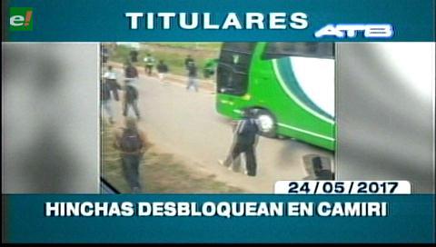 Video titulares de noticias de TV – Bolivia, mediodía del miércoles 24 de mayo de 2017