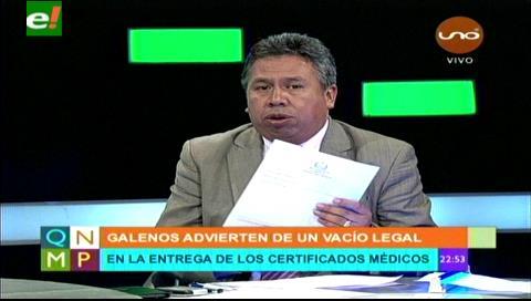 Colegio Médico de La Paz anuncia que sus certificados seguirán en vigencia