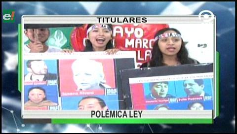 Video titulares de noticias de TV – Bolivia, noche del viernes 19 de mayo de 2017