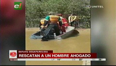 Encuentran el cuerpo del agricultor que murió ahogado en el río Piraí