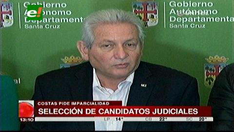Costas espera que el MAS no imponga sus candidatos en las elecciones judiciales