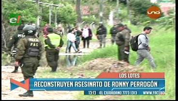 Reconstruyen el asesinato del joven Ronny Perrogón