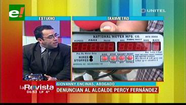 Taxímetros: Empresas inician un proceso contra Percy Fernández
