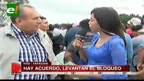 Transportistas llegan a un acuerdo con la ABC y levantan el bloqueo de Yapacaní