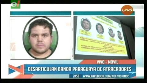 Presentan a banda de asaltantes paraguayos que eran buscados en su país