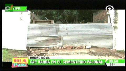 Cae barda del cementerio El Pajonal
