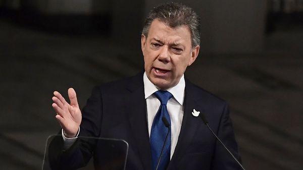 Juan Manuel Santos, presidente de Colombia (AFP)