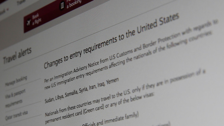 La Administración de Trump pide a la Corte Suprema desbloquear el veto migratorio