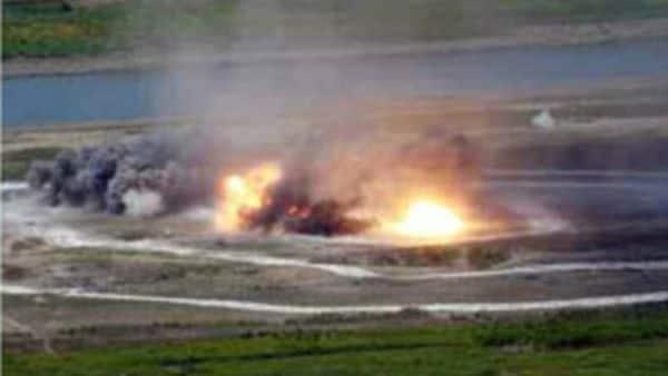 El objetivo del ensayo militar era simular la destrucción de portaaviones enemigos