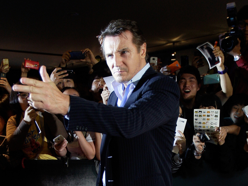 Liam Neeson, aclamado por las masas.