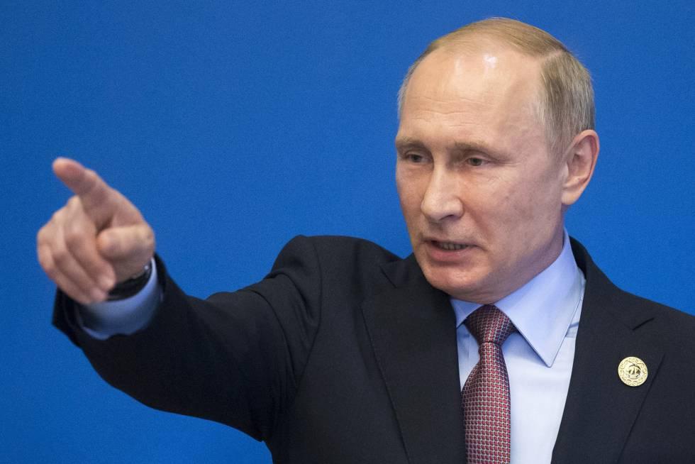 El presidente ruso, Vladímir Putin, en la cumbre de la Ruta de la Seda en Pekín (China).