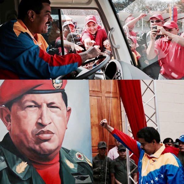 """Irónicamente, Nicolás Maduro ganó en parte el apoyo popular al momento de suceder a Hugo Chávez en 2013 gracias al hecho de que representaba al """"hombre del pueblo"""", gracias a su pasado como conductor de buses"""