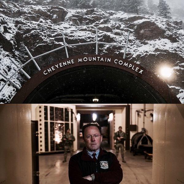 Fachada exterior del complejo NORAD en Colorado