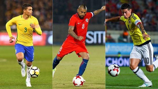 Brasil, Chile y Colombia participan de la jornada de amistosos internacionales (Getty Images)