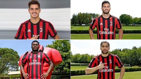 André Silva, Franck Kessié, Mateo Musacchio y Ricardo Rodríguez son los nuevos jugadores del AC Milan