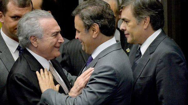 Michel Temer junto a Aécio Neves, que hoy es un aliado en problemas(EFE)