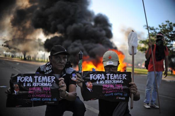 Las protestas preocupan mucho al presidente (AFP)