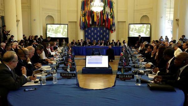 La reunión de cancilleres de la OEA del pasado 31 de mayo (Reuters)