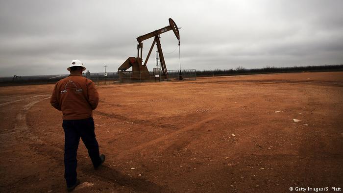 Yacimiento de petróleo en Texas, Estados Unidos.