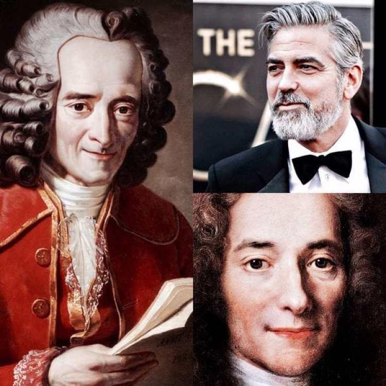 La fama actual de George Clooney quedaría fácilmente opacada por la popularidad del escritor francés Voltaire, quien era conocido como el hombre más famoso de Europa a mediados del siglo XVIII
