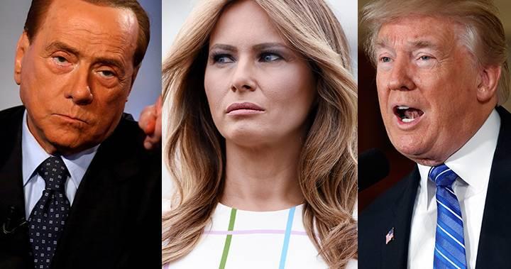 Berlusconi melania trump