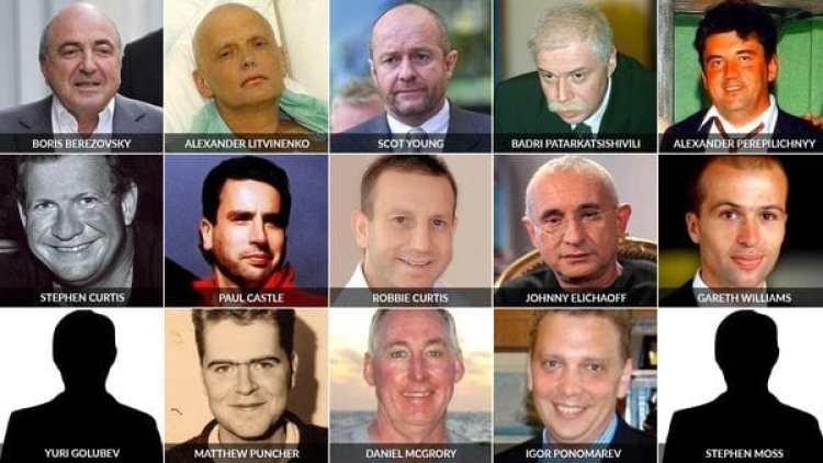 Esta es la red de personas cuyas muertes tienen relación directa con Rusia