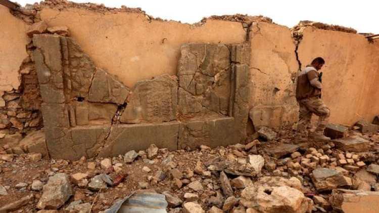 Piezas destruidas en Nimrod (AFP)