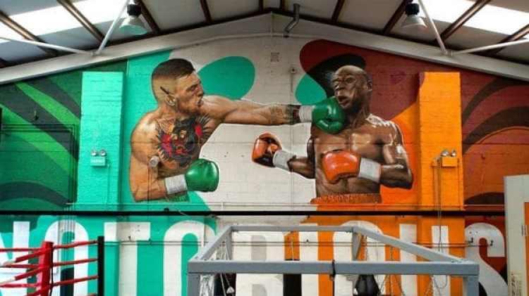 El mural pintado en el lugar de entrenamiento del irlandés