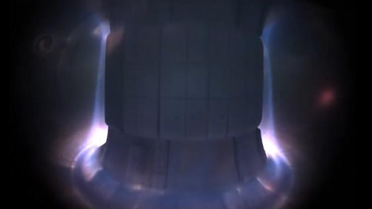 VIDEO: Se viralizan increíbles imágenes desde el interior de un reactor de fusión