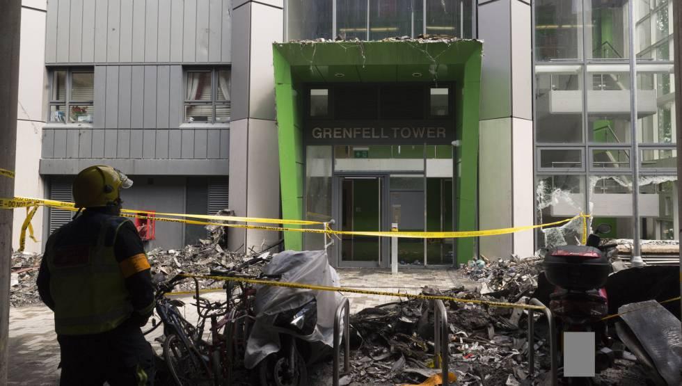 Imagen de la Torre Grenfell tomada por la policía.