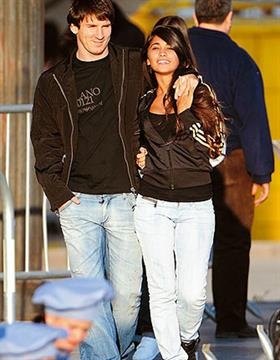 La primera foto pública de Leo y Antonela