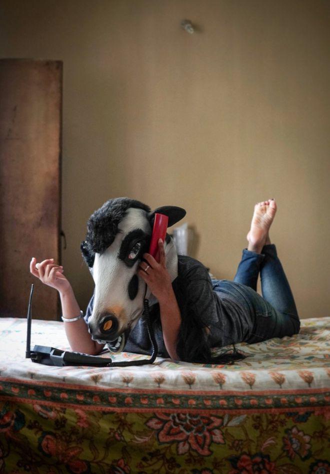 fotos vacas mujeres india6
