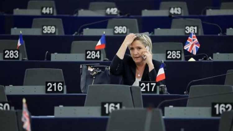 Marine Le Pen en el Parlamento Europeo