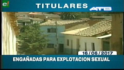 Video titulares de noticias de TV – Bolivia, mediodía del viernes 16 de junio de 2017
