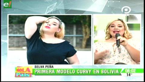 Selva Peña la primera modelo curvy en Bolivia