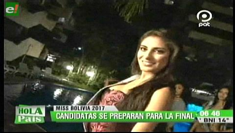Las candidatas se preparan para la final del Miss Bolivia 2017