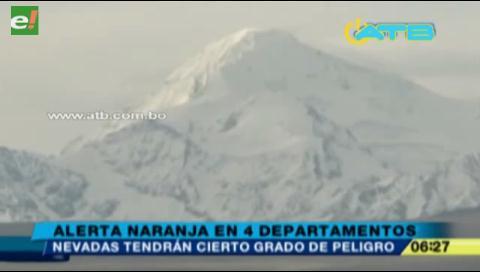 Senamhi emite alerta naranja por nevadas en 4 departamentos
