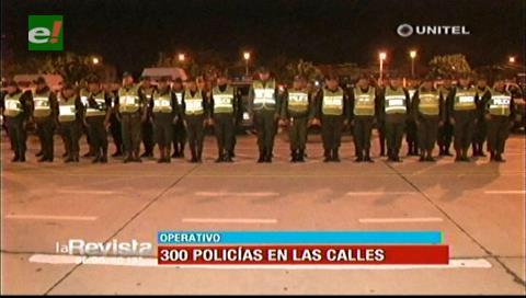 Comandante Nacional de la Policía encabezó patrullaje en Santa Cruz