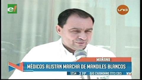"""Médicos alistan marcha de """"mandiles blancos"""" para este viernes"""