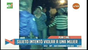 Vecinos detienen y golpean a sujeto que intentó violar a una mujer