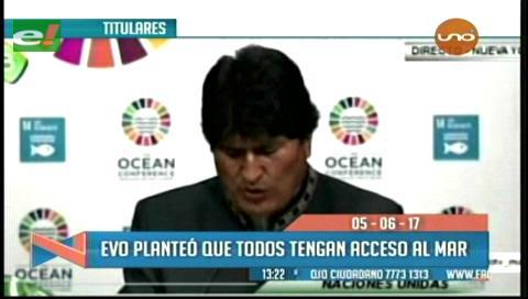 Video titulares de noticias de TV – Bolivia, mediodía del lunes 5 de junio de 2017