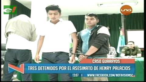 Presentan a los tres supuestos asesinos del joven Henry Palacios Ramos