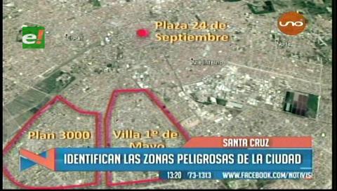 Santa Cruz: Identifican las zonas peligrosas de la ciudad