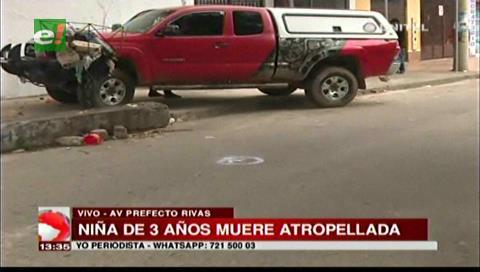 Vagoneta atropella y mata a una niña de tres años