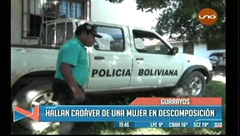 Guarayos: Hallan el cadáver de una mujer en descomposición