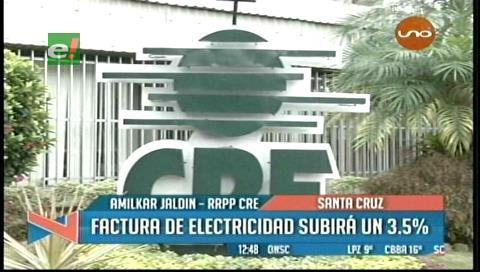 CRE de Santa Cruz explica las razones del reajuste en las tarifas