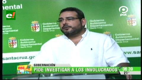 Gobernación cruceña pide un informe general de los procesos de contratación de YPFB
