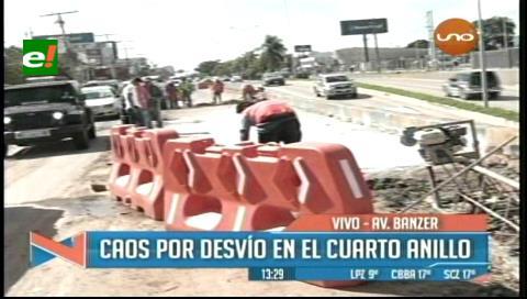 Santa Cruz: Habilitan desvío en el cuarto anillo de la zona norte