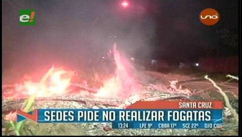 Gobernación cruceña pide no realizar fogatas por San Juan