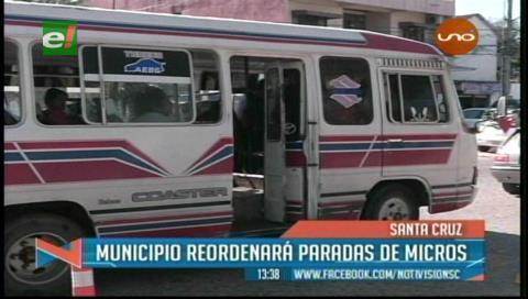 Controlarán el uso de las paradas de buses en la capital cruceña